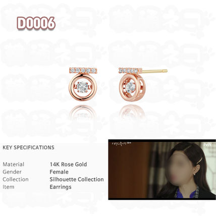 14K Gold Elegant Style Earrings