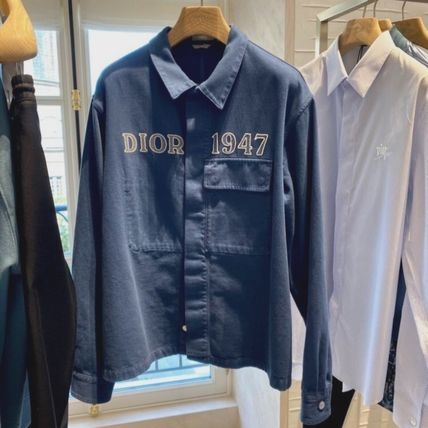 Christian Dior Shirts Overshirt With 'Dior 1947' Embroidery