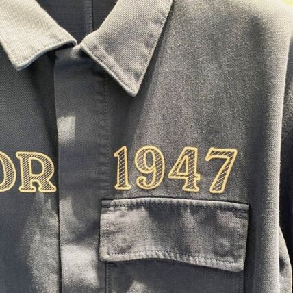 Christian Dior Shirts Overshirt With 'Dior 1947' Embroidery 4