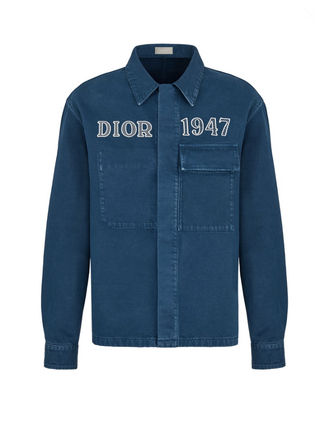 Christian Dior Shirts Overshirt With 'Dior 1947' Embroidery 5