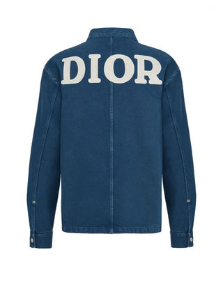 Christian Dior Shirts Overshirt With 'Dior 1947' Embroidery 6