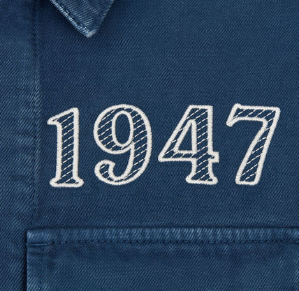 Christian Dior Shirts Overshirt With 'Dior 1947' Embroidery 7