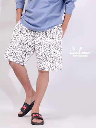 Cookman Printed Pants Leopard Patterns Unisex Street Style Shorts