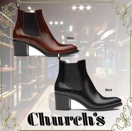 Rubber Sole Casual Style Leather Office Style Elegant Style