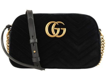 GUCCI GG Marmont Casual Style Vanity Bags Plain Party Style Office Style