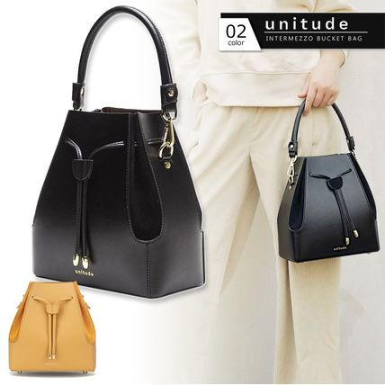 Unitude Casual Style Suede 2WAY Plain Leather Party Style Purses