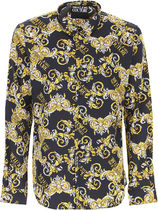 VERSACE Shirts Street Style Long Sleeves Cotton Front Button Luxury Shirts 4