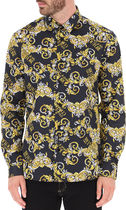 VERSACE Shirts Street Style Long Sleeves Cotton Front Button Luxury Shirts 5