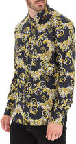 VERSACE Shirts Street Style Long Sleeves Cotton Front Button Luxury Shirts 6