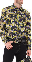 VERSACE Shirts Street Style Long Sleeves Cotton Front Button Luxury Shirts 8