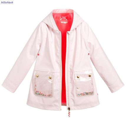 Blended Fabrics With Jewels Glitter Kids Girl Outerwear
