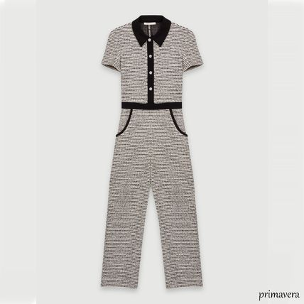 Dungarees Casual Style Cotton Medium Short Sleeves