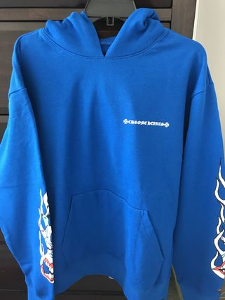 CHROME HEARTS Hoodies Pullovers Unisex Street Style Long Sleeves Graphic Prints 2