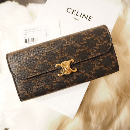 CELINE Triomphe Canvas Large Triomphe Wallet In Triomphe Canvas