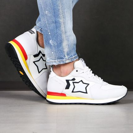 Star Suede Street Style Logo Sneakers