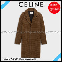 CELINE Zigzag Wool Street Style Long Chester Coats
