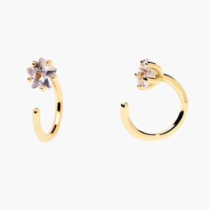 Costume Jewelry Casual Style 18K Gold Elegant Style Earrings