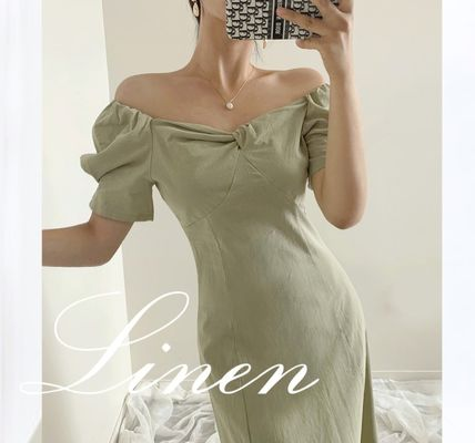 TOM&RABBIT Dresses Casual Style A-line Flared Plain Long Party Style