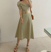 TOM&RABBIT Dresses Casual Style A-line Flared Plain Long Party Style 4