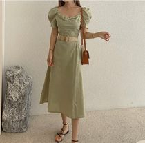 TOM&RABBIT Dresses Casual Style A-line Flared Plain Long Party Style 5