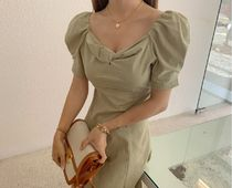 TOM&RABBIT Dresses Casual Style A-line Flared Plain Long Party Style 7
