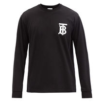 Burberry Crew Neck Pullovers Long Sleeves Plain Cotton