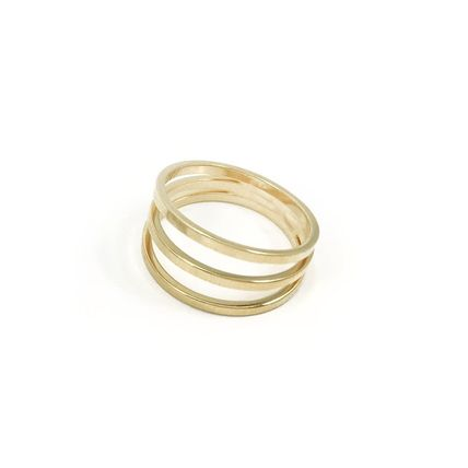 Casual Style Brass 14K Gold Elegant Style Rings