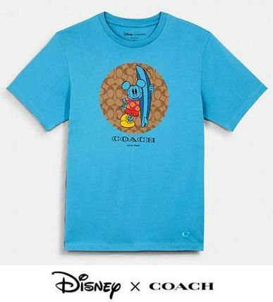 Coach More T-Shirts Monogram Collaboration Other Animal Patterns Cotton