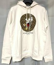 Coach SIGNATURE Pullovers Monogram Collaboration Long Sleeves Plain