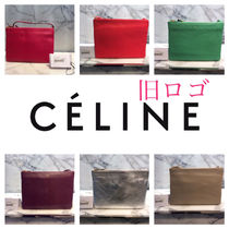 CELINE Trio Bag Casual Style Plain Leather Party Style Elegant Style