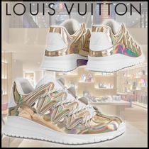 Louis Vuitton Blended Fabrics Street Style Leather Glitter Sock Sneakers