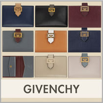 GIVENCHY Unisex Folding Wallet Small Wallet Logo Coin Cases