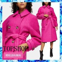 TOPSHOP Plain Long Elegant Style Chester Coats