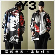 Y-3 Stand Collar Coats Camouflage Unisex Street Style Bi-color