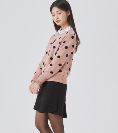 Dots Casual Style Long Sleeves Medium Office Style
