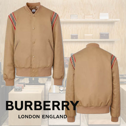Burberry Stripes Plain Jackets