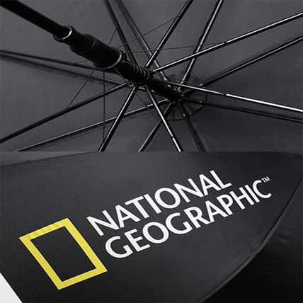 NATIONAL GEOGRAPHIC Unisex Street Style Logo Umbrellas & Rain Goods
