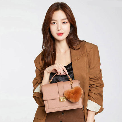 Casual Style Faux Fur Street Style 2WAY Plain Office Style