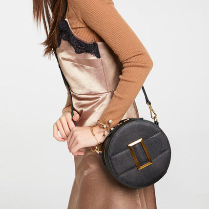 Casual Style Faux Fur 2WAY Plain Party Style Crossbody