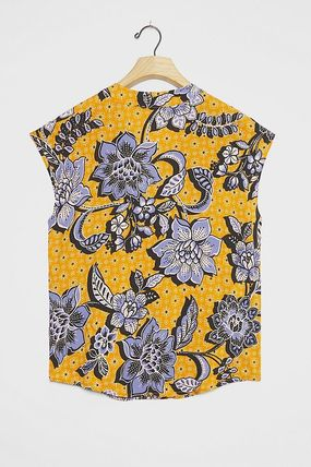 Flower Patterns Casual Style Medium Office Style