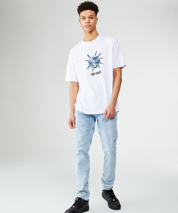 Tapered Pants Denim Cotton Jeans