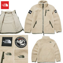 THE NORTH FACE WHITE LABEL Short Unisex Street Style Logo Fleece Jackets Jackets