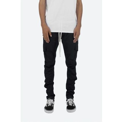 MNML Tapered Pants Street Style Plain Cotton Tapered Pants