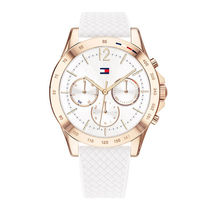 Tommy Hilfiger Casual Style Unisex Silicon Round Party Style Quartz Watches