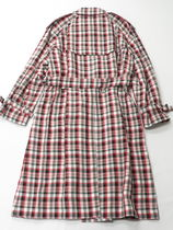 Burberry BURBERRY Delilah Plaid Double Breasted Coat #8002346
