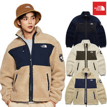 THE NORTH FACE Short Unisex Street Style Logo Fleece Jackets Jackets