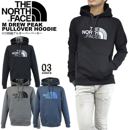 THE NORTH FACE Hoodies Pullovers Unisex Street Style Long Sleeves Cotton Oversized 2