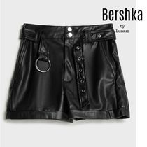 Bershka Short Casual Style Faux Fur Plain