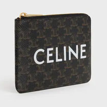 CELINE Triomphe Canvas Coin & Card Pouch In Triomphe Canvas