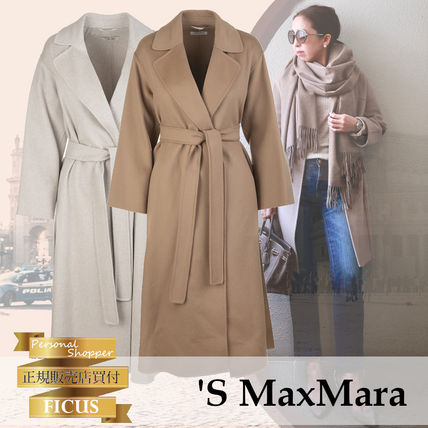 S Max Mara ELENA Casual Style Wool Plain Medium Handmade Party Style